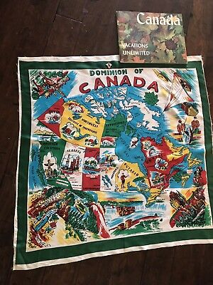VintageSCARF, Charm, andBook Souvenirs of CANADAmounties, totem, photos
