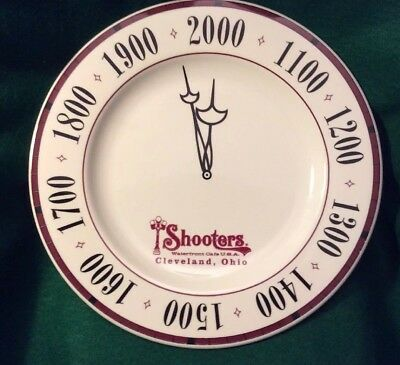 Vintage Rare Advertising SHOOTERS WATERFRONT CAFE USA Dinner Plate Collectible