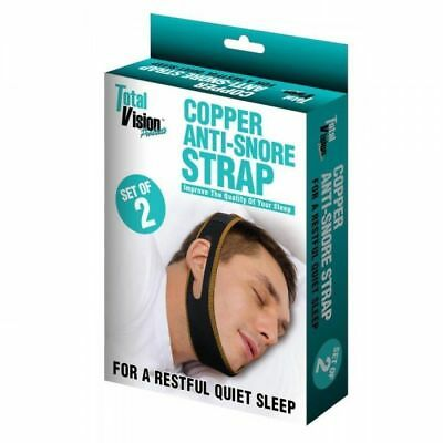 Copper Anti-Snore Strap A Total Vision Product. A SET OF 2