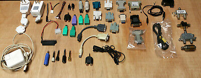 Connectors, Adapters, Computer, TV, usb, video, RF, phono, charger