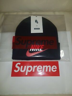 e40574ca1b7 Supreme x Nike Hat Beanie Black FW18 100% Authentic Order Confirmed DSWT In  Hand