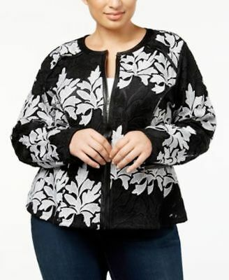 4fe0597f09d INC International Concepts Women s Jacket Embroidered Plus Size 1X MSRP   169.50