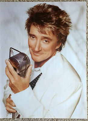 ROD STEWART - Full-Page Magazine Photo Picture Cutting - RARE