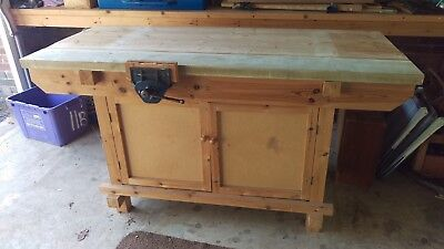 Workbench Wood Working including Record Vice work bench
