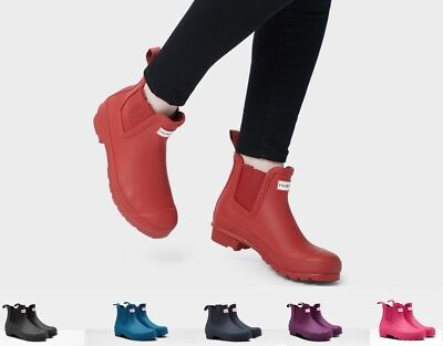 0a90335c615 NEW HUNTER WOMEN'S Original Chelsea Waterproof Rain Boots Authentic Ankle  Bootie