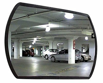 """See All RR2030 Round Rectangular Glass Indoor Convex Security Mirror, 30"""" Length"""