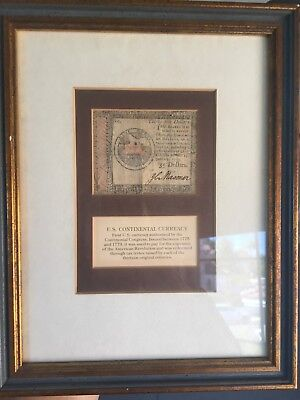 Revolutionary War Currency Continental Dollar
