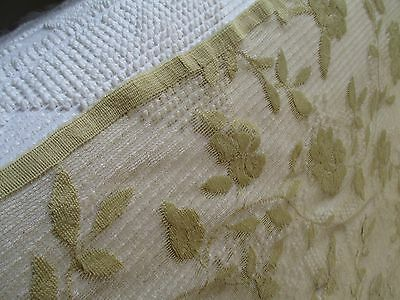 Vintage Victorian look LACE Curtain Valance French Country Cottage SHABBY fabric