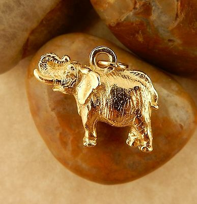 22k gold plated Pewter African Elephant 3D Charms