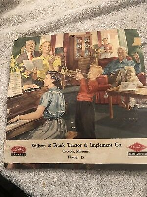 Vintage 1953 Calendar Jones and Frank Tractor and Implement Co
