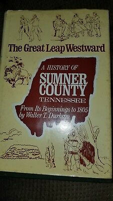 1969 history of sumner county Tennessee signed book hardback walter t  durham