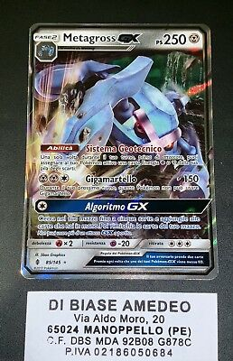 💎pokèmon Metagross Gx 85/145 Guardiani Nascenti Italiano Mint!⭐️