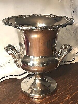 Vintage TOWLE TWO HANDLED Silver Plate CHAMPAGNE WINE URN ICE BUCKET Trophy