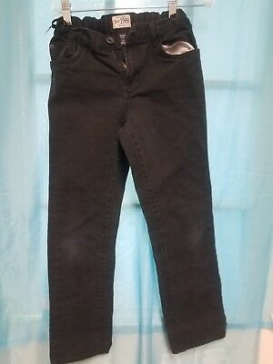 Boys CHILDREN PLACE Black Skinny Jeans Size 12 With Adjustable Waist Pre-Owned
