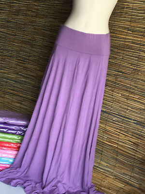 SPECIAL BARGAIN! Lot of 7 very good quality paneled maxi skirts.TRAN SEASONAL.