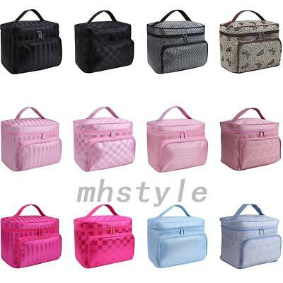 6aefe2c413 Large Make Up Bag Vanity Case Cosmetic Nail Tech Storage Beauty Box Nylon