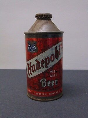 Vintage Hudepohl Beer Cone Top Can w/ Cap Lot A