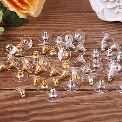 Lot 100pcs Plastic Earring Backs Stoppers Ear Findings Post Nuts Earnuts Jewelry
