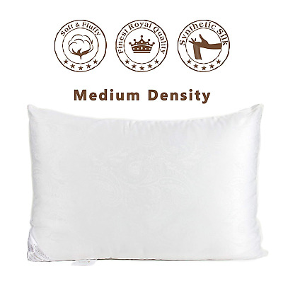Hotel Quality LUXURY DELUXE Pillow Silk Down Pillow Comfortable Extra Filling UK