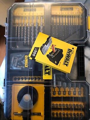 Game TSTAK of 100 parts for drilling and screw DT71569 Dewalt