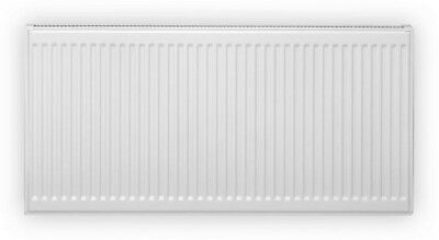 Pensotti 12 in. H x 32 in. L Hot Water Panel Radiator Package in White