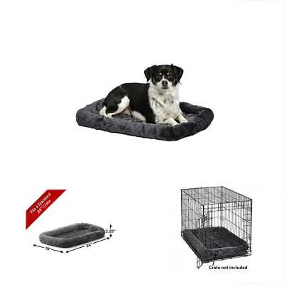 MidWest Beds & Equipment Deluxe Bolster Pet For Dogs Cats Measures 24L 18W 2.25H