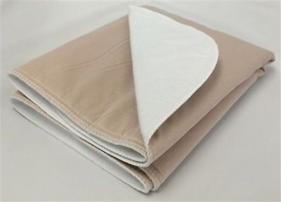 2-18x24 Washable Reusable Dog Training Puppy Pee Pads Potty Piddle Whelping TAN