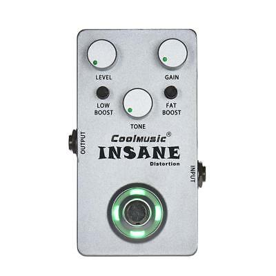 Electric Guitar Distortion Effect Pedal True Bypass Metal Guitar Accessory F8Q3