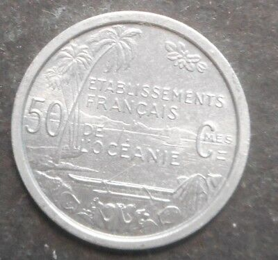 French Oceania  1949 50 Centimes   Coin  aUNC