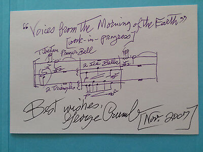 "George Crumb Musical Quote 4X6 ""voices From The Morning """