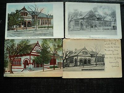 Four Post Cards : New London, Ct. Public Library