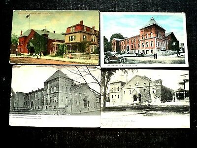 """Four Post Cards : New London, Ct.  """" The Armory"""""""