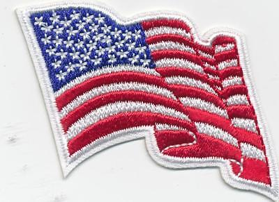 Girl Boy Cub Waving AMERICAN FLAG Patches Crests Badges SCOUT GUIDE uniform