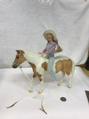 Vintage Breyer Horse Animal Large With Female Rider