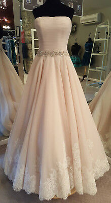 Allure 9168 Wedding Dress, Bridal Gown (Champagne/Ivory/Silver, Size 12)