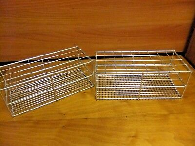 """Metal Test Tube Rack 9 rows x 4 rows (10.5""""x4.75""""x4"""") for 25mm or smaller tubes"""