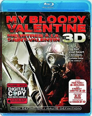 NEW HORROR 3D + 2D BLU-RAY - MY BLOODY VALENTINE 3D -includes 4pr GLASSES-
