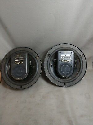 "Rare Infinity 6.5"" 63 Kappa MKII Car Stereo Speakers Emit Tweeters Kappa Series"