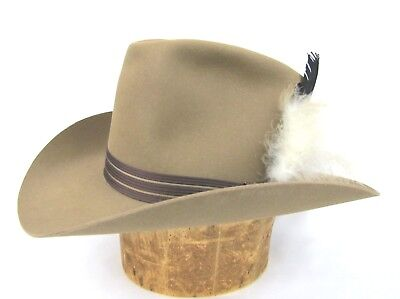 RESISTOL Hat 7 3 8 Self Conforming Brown 3X Beaver Western Cowboy Feather  Oval 8509a90b2e7c