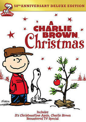 A Charlie Brown Christmas (DVD, 2014, 2-Disc Set, 50th Annivesary) - New