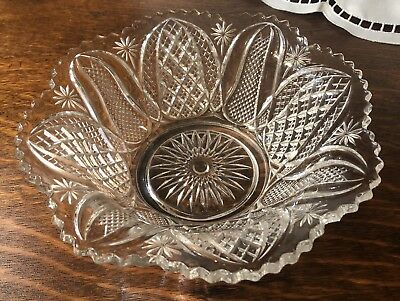 Antique Elegant IMPERIAL Glass Arch Star Pressed Glass Bowl EXCELLENT