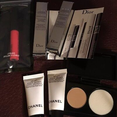 Chanel Dior Mac Cream Powder Eyelash Primer Lip Gloss Samples