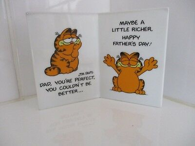 Vintage Garfield Ceramic Fathers Day Card 1978 Cartoon Character Toys