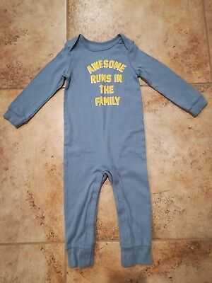 Carter's Baby Long Sleeve Jumpsuit Awesome Runs in The Family Size 18-24 Months