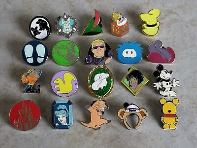 Pin Trading Disney Pins Lot of 20 As Pictured Mickey Princess Pooh Hat Villain
