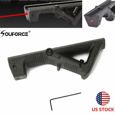 QAngled Foregrip Front Grip w/Red Dot Laser Sight Picatinny Weaver Rail Mount US