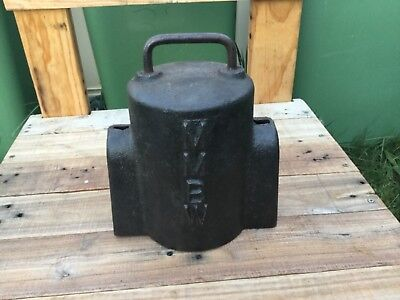 Vintage cast iron  3/4  MMBW water meter cover