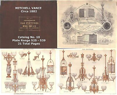 Mitchell Vance Catalog RESEARCH lamp lighting shade Gas Oil Chandelier Antique