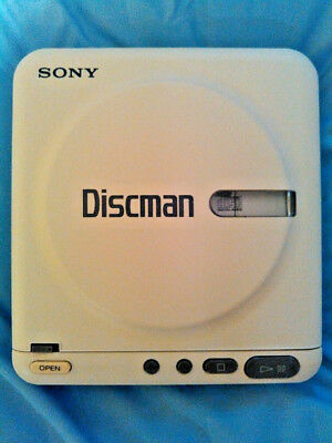 Sony D-20 White Discman CD Player Vintage Rare EXCELLENT Condition w Manual & AC