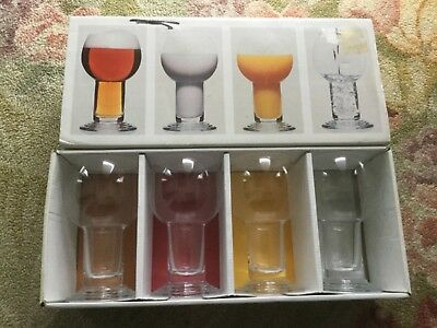 Boxed set of 4 Boda Nova retro glasses, made in Sweden